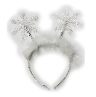 Christmas Accessory - Forum Novelties Glitter Snowflake And Feather Headband