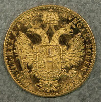 1915 Austria solid Gold Ducat in mint uncirculated condition