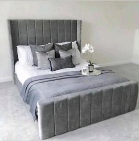 Wingedback super king size bed