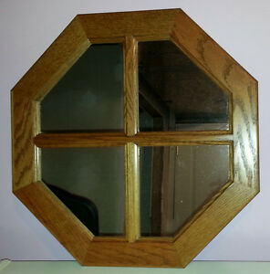 Oak Octagon Mirror made by the Mennonites from red oak