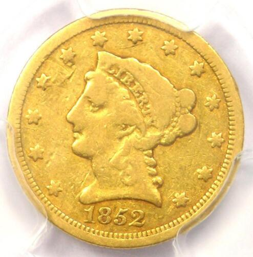 1852-C Liberty Gold Quarter Eagle $2.50 - PCGS Fine Details - Charlotte Coin!