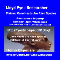 Who is Lloyd Pye? Feb 21 3pm Whitespot RSVP asap