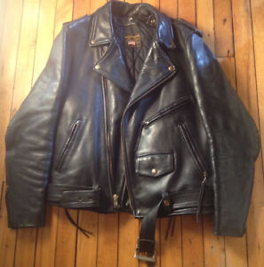 "GENUINE Extra Heavy Duty Motorcycle Jacket Size 44"" in OLIVER"
