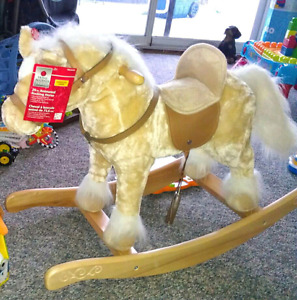 Rocking horse and mega blocks with table