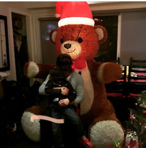 Christmas Bear Animated Outdoor  Inflatable and Illuminated
