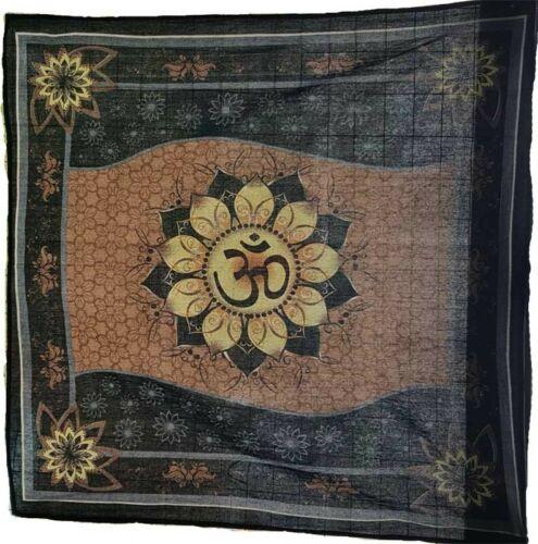 "36"" Large Om Lotus Tie Dye Altar Cloth Wiccan Pagan Altar RAC009"