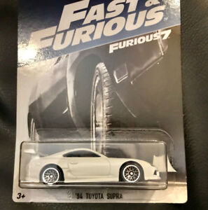 Hot Wheels, Furious 7 White 1994 Toyota Supra, NEW