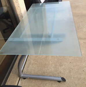 STK 2860 - IKEA GLASS TOP DESK Edmonton Edmonton Area image 1