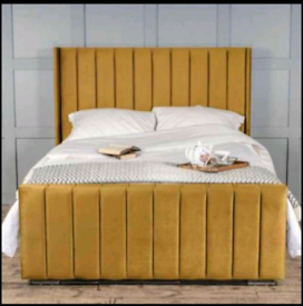 Wingback bed SALE IS NOW ON with Ortho Memory Mattress and Headboard
