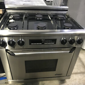 """36"""" Dacor Dual Fuel Stainless Steel Stove $2500 as kitch"""