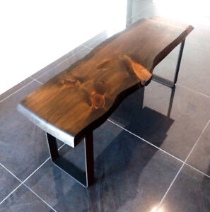 Live Edge Bench - 3.5FT - METAL LEGS - PICK UP TODAY!