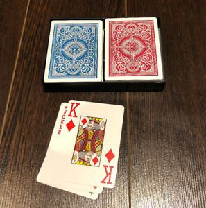 KEM authentic Poker size Jumbo print Playing Cards + Hard Case
