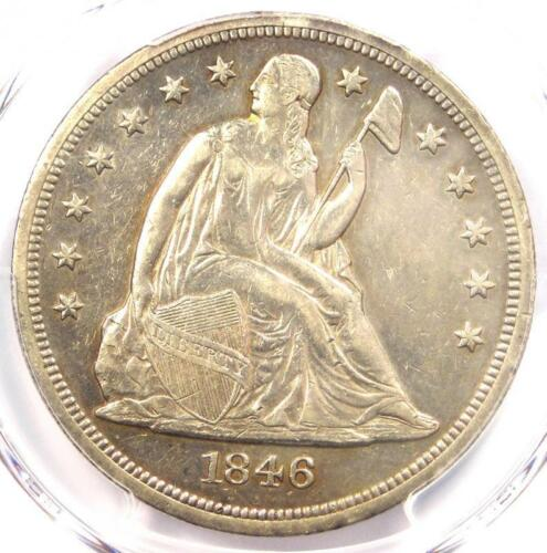 1846-O Seated Liberty Silver Dollar $1 - PCGS AU Details - Rare Date Coin!