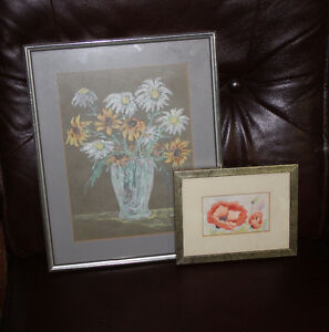 3 pairs of pictures - Flowers and Birds Belleville Belleville Area image 1