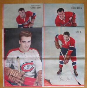"4 Photos, Poster du Journal ""La Patrie"" de ± 1952."