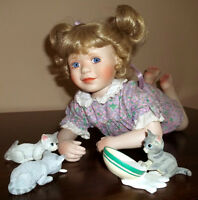 PRICE REDUCED---MOVING---Brittany With Friends Porcelain Doll