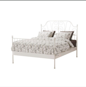 White Ikea Frame & Mattress