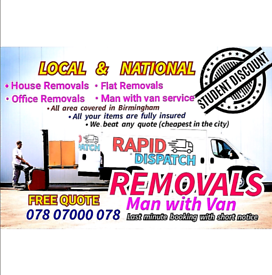 Man and Van , office move , House move , any removal , courier service