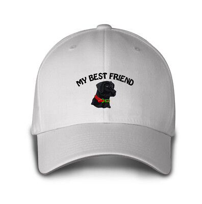 MY BEST FRIEND BLACK LAB DOG Embroidery Embroidered Hat Baseball Cap    ()