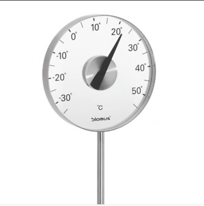 Blomus stainless steel garden thermometer with stake