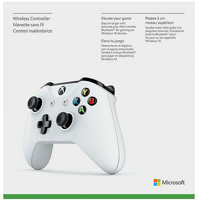 Купить Microsoft Xbox One X - Genuine Microsoft Xbox One S White Wireless Bluetooth Controller TF5-00001 - VG