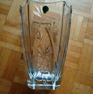 Waterford Antique Bamboo Crystal Lead Vase (Made In Ireland)