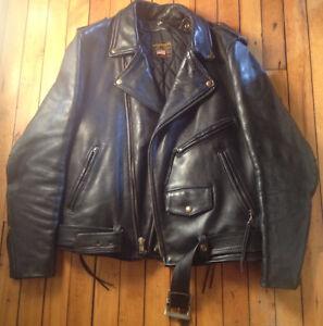 Extra Heavy Duty   44 TALL Men's Leather Jacket