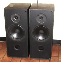 "Pair PSB 500 Speakers Canada Made Great Sound 23""H X 10""W X 12""D"