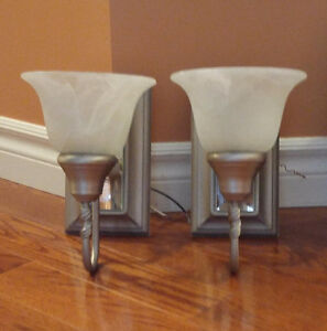 2 wall sconces for sale