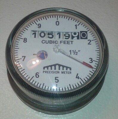 Precision Meter Water Meter Gauge Cubic Feet 1 12 Steampunk Art Use Maybe