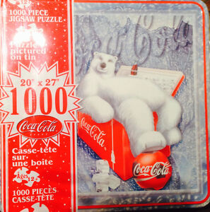 1000 Piece Coca Cola Puzzle in Tin NEVER OPENED