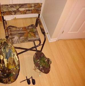 Ameristep Multi Season Outhouse & Hat + Walky Talky + Chair