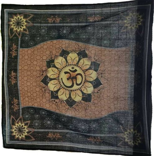 """Om Lotus Altar Cloth 36"""" x 36"""" Wiccan Witchcraft Supply Store"""