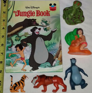 Jungle Book Hard Cover Book & 5 Toys