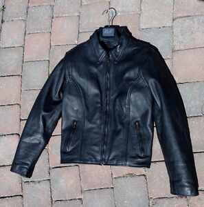 Ladies Leather Motorcycle Jacket & Chaps, Size S/M, L.New, $99