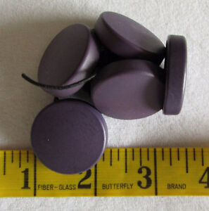 BUTTONS - PURPLE Large Dimensional Buttons - 6 buttons @ 1 1/4""