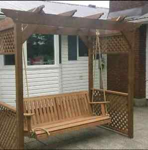 Beautiful  custome hand crafted porch swing Stratford Kitchener Area image 7