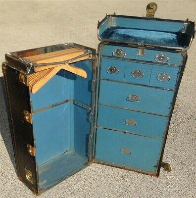 Antique Hartmann Steamer Wardrobe Trunk
