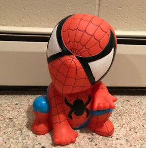 Spiderman Vinyl Bank Action Figure Home Decor Display 9 Inches