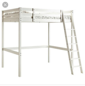 "White Stora Loft Bed with 8"" cut off the bottom"