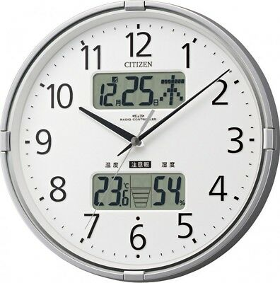 NEW Citizen Radio Wave Wall Clock In The Form Navi F Temperatue With Tracking