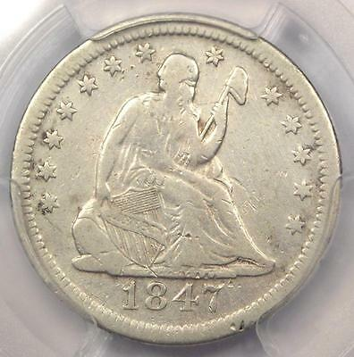 1847-O Seated Liberty Quarter 25C - Certified PCGS Fine Details - Rare Date!