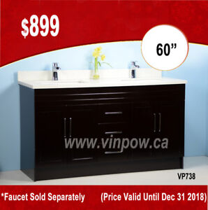 """December Hot Deal ONLY!! 60"""" Vanity with Stone top only $899"""