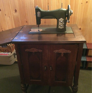 Antique White Cabinet Sewing Machine