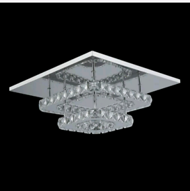 Luxury Square LED Crystal Ceiling Light