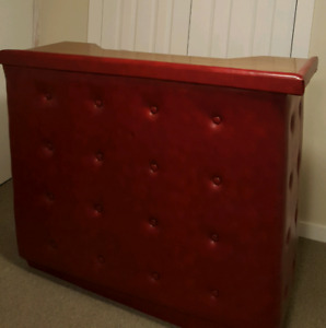 Vintage/Retro Red Leather Bar