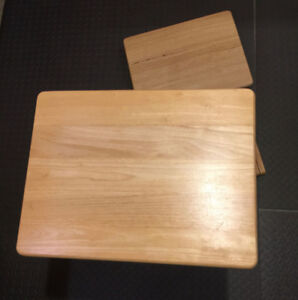 Set of two 2 wooden folding TV / side tables for $20