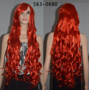 BRAND NEW Bright Red Long Curly Cosplay Wig (563-0680)