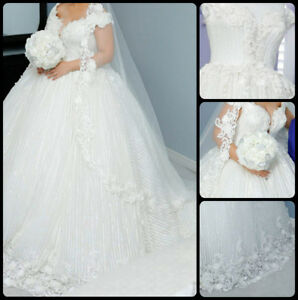 Wedding dress with the crown