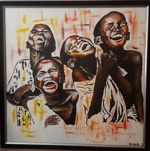 African Canvas oil painting